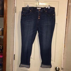 Loft Boyfriend Button Fly Jeans